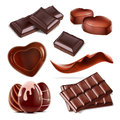 Set of piece chopped chocolate candy