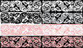 Set of pink and black abstract bands Royalty Free Stock Image