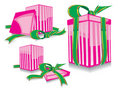 Set of the pink gift Stock Image