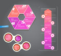 Set of pink labels for wide variety of use vector art Stock Images