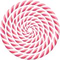 Set of pink twisted hard candy cane frame with shadow. EPS 10