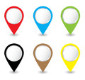 Set of pins Vector Stock Photos