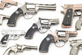 Set of pistols lighter Royalty Free Stock Photo