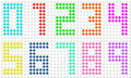 Set of pixel digit numbers vector illustration eps Royalty Free Stock Image