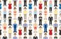 Set of pixel people Royalty Free Stock Photo