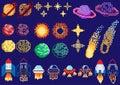 A set of pixel planets
