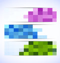 Set of pixelated banners Royalty Free Stock Images