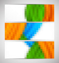 Set of pixelated banners Royalty Free Stock Photo