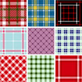Set of plaid patterns Royalty Free Stock Images