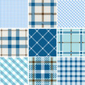 Set of plaid patterns Royalty Free Stock Photo