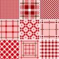 Set of plaid patterns Royalty Free Stock Photo