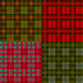 Set plaid patterns, tartan, fabric textile Royalty Free Stock Images