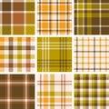 Set of plaid seamless pattern Royalty Free Stock Photo