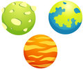 Set of planets Stock Photo