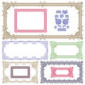 Set of plant element and frames Stock Photography