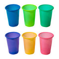 Set of plastic cups Royalty Free Stock Photo