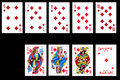 Set of playing card isolated Stock Photos