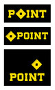Set of point signs illustrated with square design and copy space Royalty Free Stock Images