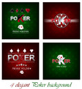 Set of poker background with card symbol design for your tournament or poster Royalty Free Stock Images