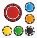 Set of poker chip