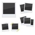 Set Polaroid photo frames on white background Royalty Free Stock Photo