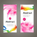 Set of polygonal and spots pink geometric banners for modern design Royalty Free Stock Photo