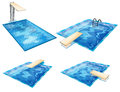 Set of pools illustration the on a white background Royalty Free Stock Photography