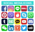 Set of popular social media and other icons