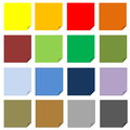 Set of post it Royalty Free Stock Photo