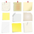 Set of post it notes Royalty Free Stock Images