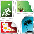 Set of post stamps Stock Image
