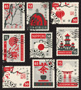 Set Of Postage Stamps On The J...