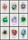 Set poster Grunge background vector. Grunge print for t-shirt. Abstract dirt backgrounds texture. Grunge banner with an