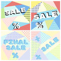 Set of posters in abstract style for sales