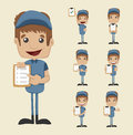 Set of postman eps vector format Royalty Free Stock Photo