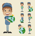 Set of postman eps vector format Royalty Free Stock Images