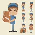 Set of postman eps vector format Stock Photo