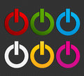 Set of power buttons Royalty Free Stock Images