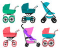 Set pram Royalty Free Stock Photo