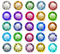 set of precious stones of different colors