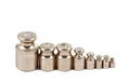 A set of precision weights Royalty Free Stock Images