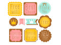 Set of premium and high quality labels vector file eps Royalty Free Stock Photo