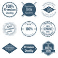 Set of Premium Quality Badges and Labels Design Vector