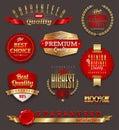 Set of premium quality golden labels
