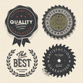 Vintage set premium quality and guarantee labels Royalty Free Stock Photo