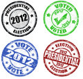 Set of presidential election grunge stamps Royalty Free Stock Image