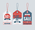 Set of price tags for 4th of July. Vector illustration