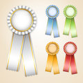 Set of  prize ribbons Royalty Free Stock Images