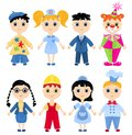 Set of profession cartoon characters children llustration Stock Images