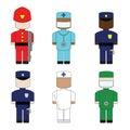 Set the profession Royalty Free Stock Photo